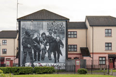 Political murals in the Bogside, Derry, Northern Ireland Stock Images
