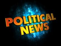 Political News - Gold 3D Words. Royalty Free Stock Photography