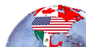 Political north America map Stock Images