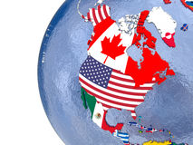 Political north America map Royalty Free Stock Photos