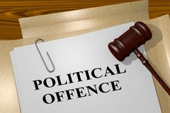 Political Offence concept Stock Image