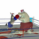 Political Party - Boxing 2. Political Party Sporting Event Boxing Democrat point of view stock illustration