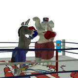 Political Party - Boxing 3. Political Party Sporting Event Boxing Republican point of view Vector Illustration