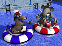 Political Party - Bumper Boats Stock Photography