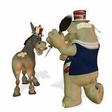 Political Party - Game 1. Political Party Game of Pin the Tail on the Donkey stock illustration