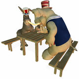 Political Party - Sporting Event 3. Political Party Arm Wrestling Sporting Event Democrat Point of View royalty free illustration