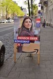 Political poster in Vienna, Austria. Poster for the upcoming European Parlamentary elections in Austria, Socialist Party royalty free stock images