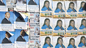 Political posters in Kenya Royalty Free Stock Photo