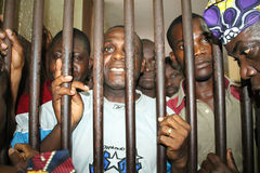 POLITICAL PRISONER IN IVORY COAST Stock Images