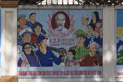 Political propaganda in Ho Chi Minh Royalty Free Stock Photos
