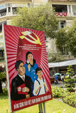 Political propaganda. On the streets of Ho Chi Minh city in Vietnam. Vietnam is country with one party system. Ruling party is Communist party of Vietnam Stock Photo