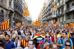 Political protest in Barcelona Stock Photo