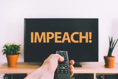 Political Protester. Concept on display tv royalty free stock images