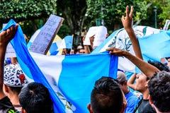 Political protests, Antigua, Guatemala Royalty Free Stock Image