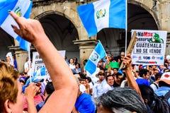 Political protests, Antigua, Guatemala Stock Photography
