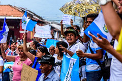 Political protests, Antigua, Guatemala Royalty Free Stock Photo