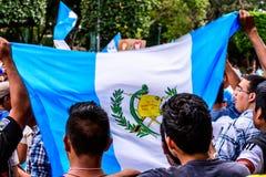 Political protests, Antigua, Guatemala Stock Image