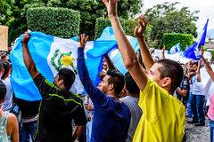 Political protests, Antigua, Guatemala Royalty Free Stock Photos