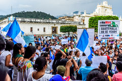 Political protests, Antigua, Guatemala Stock Photo