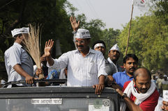 Political Rally of Arvind Kejriwal. Royalty Free Stock Photography