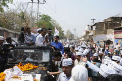 Political Rally of Arvind Kejriwal. Royalty Free Stock Image