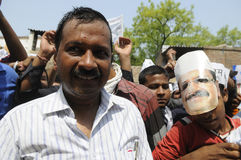 Political Rally of Arvind Kejriwal. Royalty Free Stock Photos