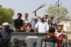 Political Rally of Arvind Kejriwal. Royalty Free Stock Images