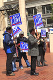 Political rally in Pioneer Square Portland OR. Royalty Free Stock Photography