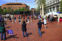 Political rally in Portland OR. Royalty Free Stock Image