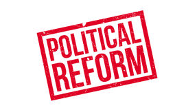 Political Reform rubber stamp Royalty Free Stock Image