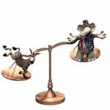 Political Scales - Democrat Royalty Free Stock Image