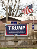 Political Sign Banner Trump Make America Great Again Royalty Free Stock Photography