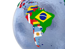 Political south America map Royalty Free Stock Images