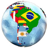Political south America map Stock Image