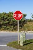 Political Stop Sign in a Park Stock Photos