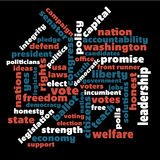 Political word graphic Royalty Free Stock Images