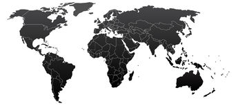 Political world map. Illustration of political world map Stock Images