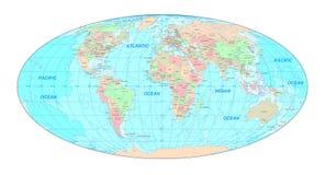 Political World map vector illustration