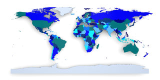 Political world map Stock Image