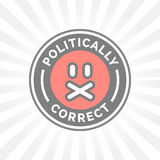 Politically Correct icon. Political correctness censor freedom of speech Stock Photos
