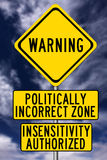 Politically incorrect. Being politically incorrect and insensitive Stock Image