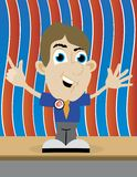 Politician. Illustration of a politician standing on stage giving a speech Royalty Free Stock Photos