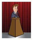 Politician. Cartoon vector illustration of a politician Stock Image