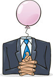 Politician. Cartoon illustration of politician with pink balloon instead of head Royalty Free Stock Photos