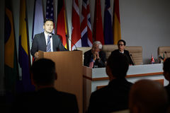 Politician address Royalty Free Stock Photos