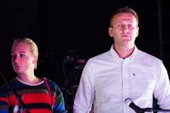 Politician Alexei Navalny and his wife Yulia Stock Photos