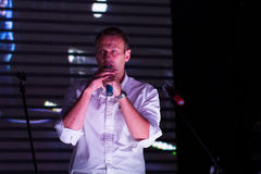 Politician Alexei Navalny speaking at the Stock Photography