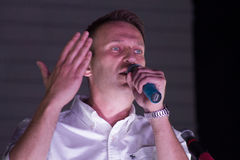 Politician Alexei Navalny speaking at the Royalty Free Stock Images