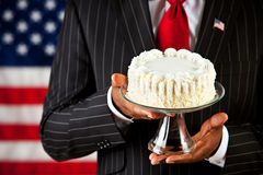 Politician: Blank Cake on Stand stock images