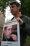 Politician Boris Nemtsov on actions in support of Khodorkovsky Royalty Free Stock Image